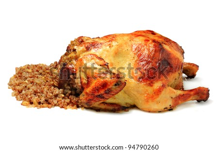 Grilled Chicken isolated on white background