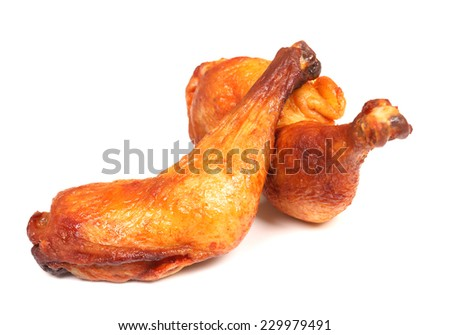 grilled chicken leg - stock photo