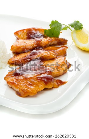 Grilled chicken Teriyaki - stock photo