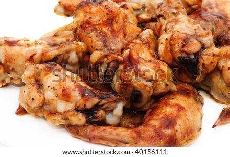 Grilled chicken winglets