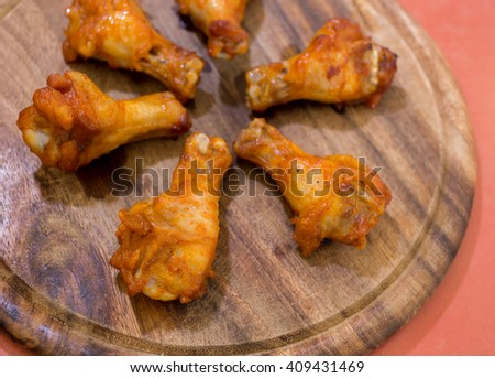 Grilled chicken wings on a platter