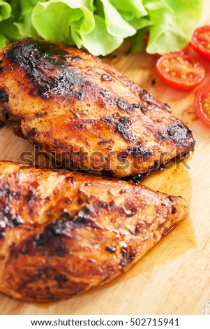 grilled chicken with vegetable