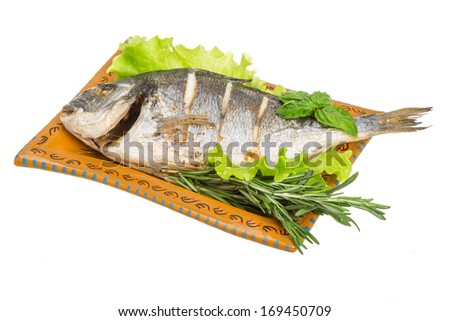 Grilled dorada with rosemary