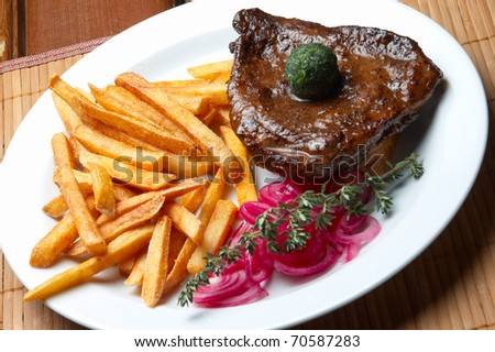 grilled food - stock photo