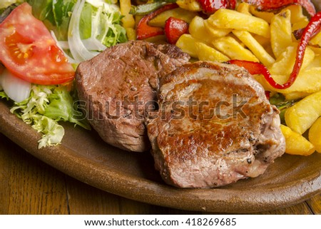 Grilled Ox sirloin - stock photo