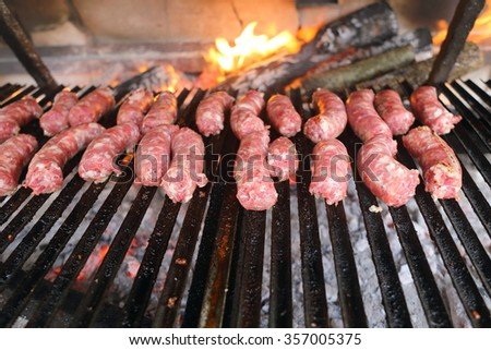 grilled sausage typical Italian