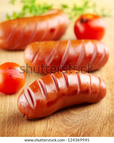 grilled sausages - stock photo