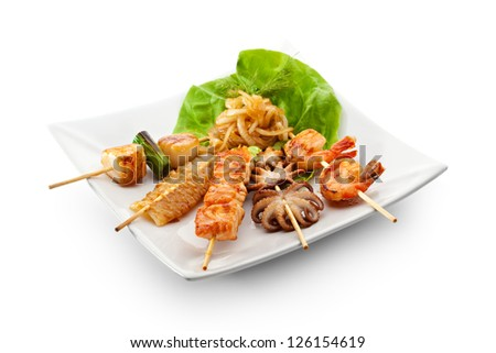Grilled Seafood Dish - stock photo