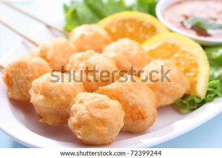 Grilled Shrimp Ball - stock photo