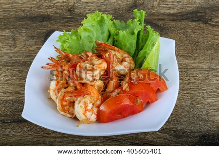 Grilled shrimps with garlic and herbs