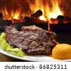 Grilled sirloin steak - stock photo