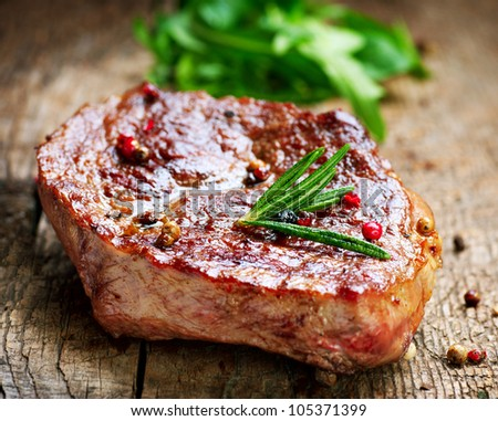 Grilled Steak. Meat - stock photo