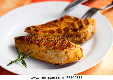 Grilled turkey breast