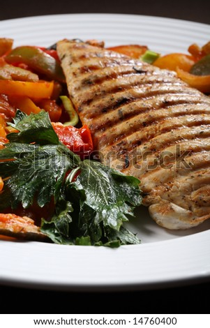 Grilled turkey fillet