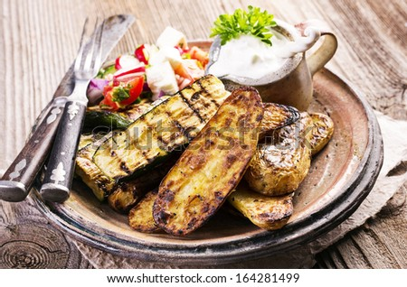 grilled vegetable - stock photo
