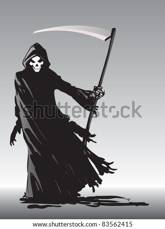 Grim Reaper illustration - raster version - stock photo