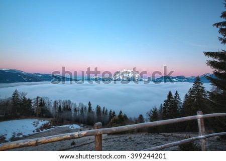 Grimming in the Ennstal in Styria, Austria - stock photo