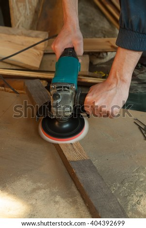 Grinder on-the-job  - stock photo