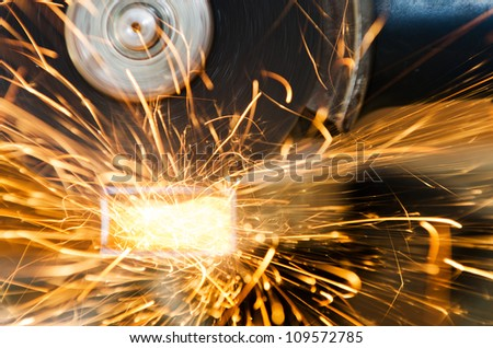 Grinder sparks - stock photo