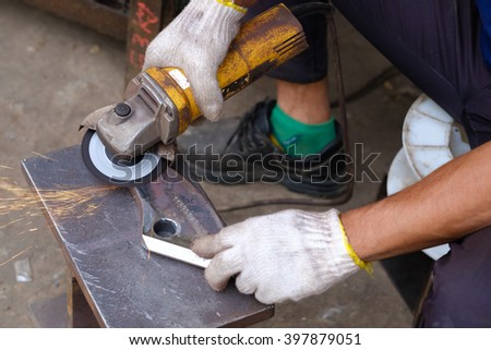 Grinding steel, steel cutting, cutting steel. - stock photo