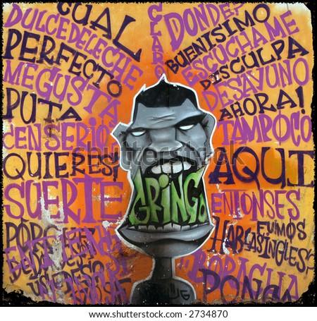 Gringo Graffiti - stock photo