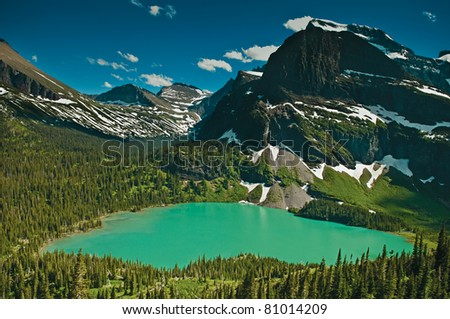 Grinnell Lake - stock photo