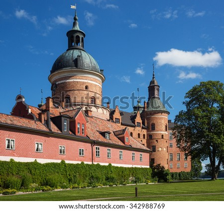 Gripsholm Slott (castle), one of the residences of the Swedish Royal Family, Mariefred, Sweden