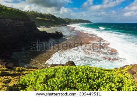 Gris Gris cape on South of Mauritius - stock photo