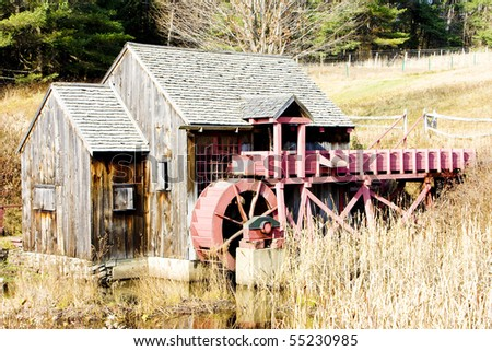 grist mill near Guilhall, Vermont, USA - stock photo
