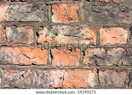 Gritty Brick Background. - stock photo