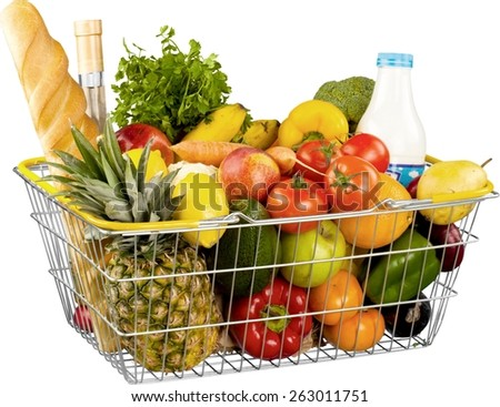 Groceries, Basket, Shopping Basket.