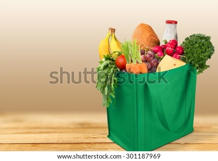 Groceries, Shopping, Bag.