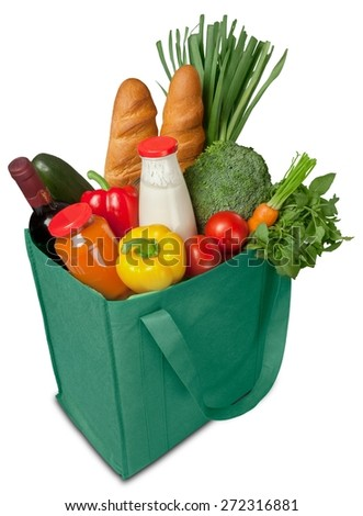 Groceries, Shopping Bag, Shopping. - stock photo