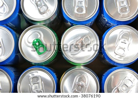 groceries soda cans
