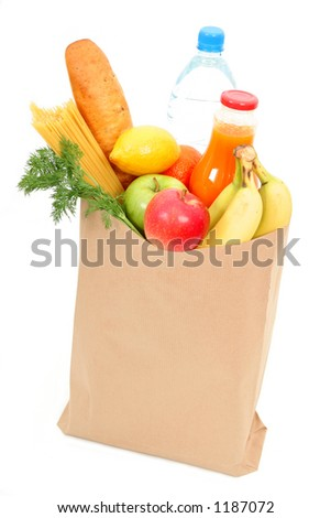 Grocery bag - stock photo
