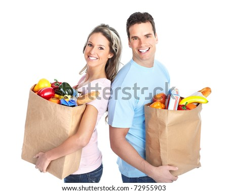 grocery shopping - stock photo