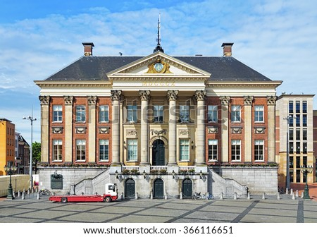 Groningen City Hall on the Grote Markt square, Netherlands - stock photo