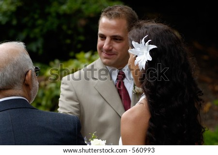 Groom and Father-In-Law - stock photo