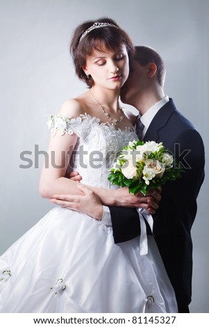 groom and the bride - stock photo