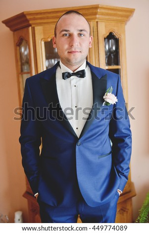 Groom in a wedding day