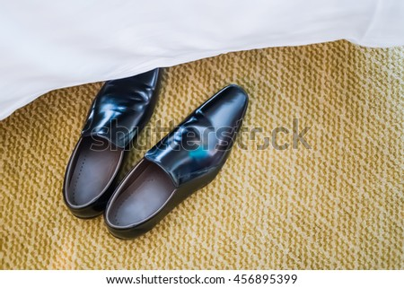 Groom shoe, man shoe, groom wedding shoe, groom shoe on carpet