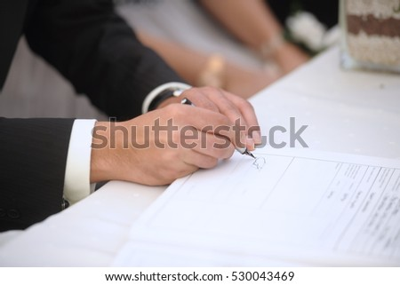 Marriage Contract Stock Images RoyaltyFree Images  Vectors