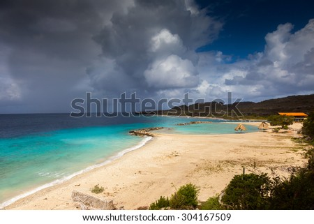 Groot St Martha - Views around Curacao Caribbean island - stock photo
