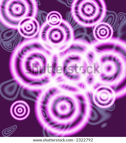 Groovy Purple Cricles on textured background. - stock photo