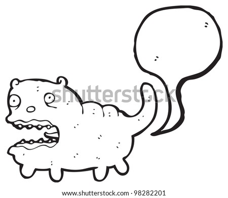 gross farting cat cartoon - stock photo