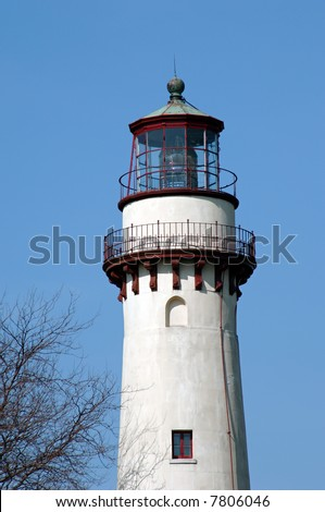 Grosse Point Lighthouse on Lake Michigan in Evanston Illinois.