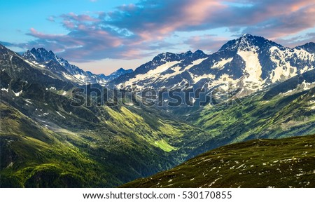 Grossglockner High Alpine Road. Austria, Alps, Europ