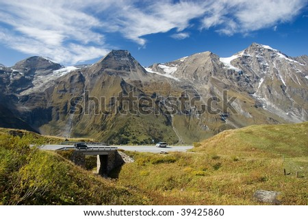 Grosslockner - High Alpine road in Austrian Alps