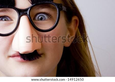 Groucho Girl - stock photo