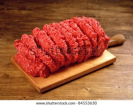ground beef - stock photo